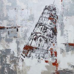 Wiedergabe-Ölgemälde mit dem lehnenden Aufsatz von Pisa