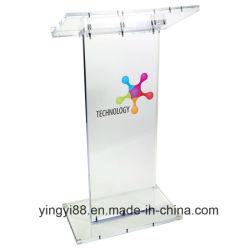 Zoll gedrucktes deluxes Podium-acrylsauerlesepult