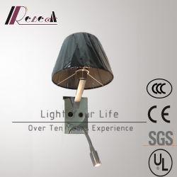 Tissu noir moderne de la lecture de chevet mur de lumière à LED