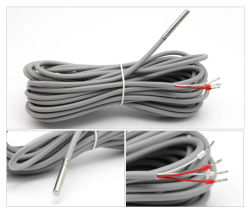 -50~400 C du capteur de température PT100 2m RDT Sonde en acier inoxydable 100mm de câble 3 fils pour thermostat