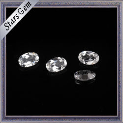 6X8mm Oval Shape Highquality Crystal White Natural Topaz