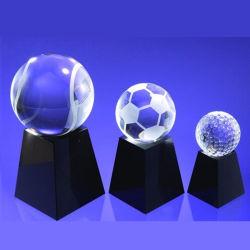 Parcours de Golf de Soccer Football Sports trophée de cristal Crystal Award