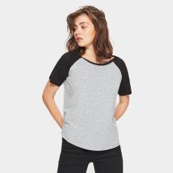 주문 로고를 가진 짧은 소매 여자의 Raglan 야구 저어지 셔츠