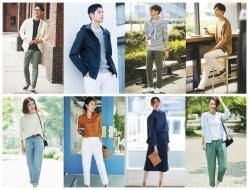 日本の世界的に有名なブランドの在庫の余暇の人および女性の衣服