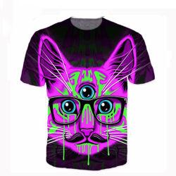 Kundenspezifische preiswerte Großhandelsqualitäts-Sublimation-Shirt-Farben-änderndes T-Shirt mit Firma-Firmenzeichen