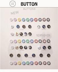 Botón de madera para un diseño simple y dos orificios y cuatro orificios y resina de láser y Señoras el botón de camisa.