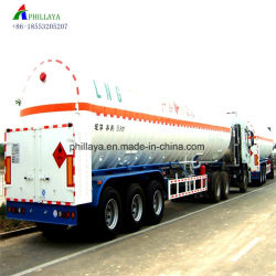 Le dioxyde de carbone liquide 40-55cbm camion citerne de GNL d'oxygène semi-remorque