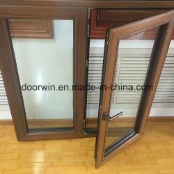 Uniones duraderas en el marcos de aluminio de madera, aluminio de madera maciza Casement Windows para África Villa