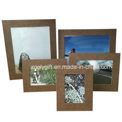 4 X6 коричневого цвета схемы с текстурированной поверхностью бумаги рамка для фотографий