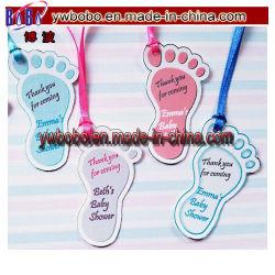 De gepersonaliseerde Markeringen van de Gift van de Gunst van de Verjaardag van het Doopsel van de Douche van de Baby van Voetafdrukken (BO-2003)