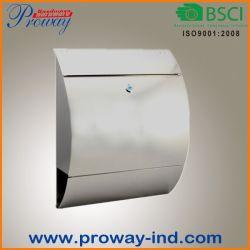 Commerce de gros de verrouillage en acier inoxydable Letter Box Boîte aux lettres avec porte-journaux