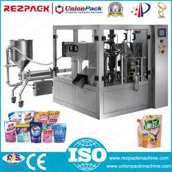 Macchina imballatrice di riempimento liquida dell'alimento di sigillamento di pomodoro dell'inserimento di peperoncini rossi del latte automatico della salsa