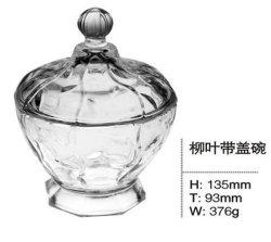 Ciotola di insalata di vetro funzionale con uso Sdy-F00503 della decorazione della casa del coperchio