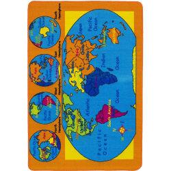 Estilo de mapa de la infancia de la alfombra Puzzle colorido para el desarrollo de Color cerebro feliz jugar