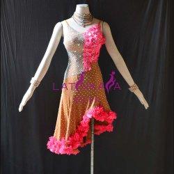 Usura su ordine di ballo delle donne, vestito latino dal fiore delle ragazze, vestito da Chacha di Rumba della samba di tango del vestito dalla salsa, vestito latino dalle ragazze