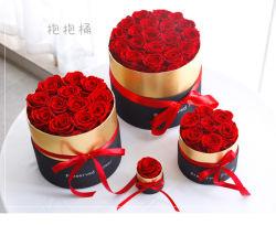 أسعار الجملة عيد الميلاد حافظ على زهرة الوردي في صندوق الهدايا