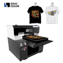 precio de fábrica los cabezales de impresión CMYK+Blanco Dual A1 A2 A3 DTG prenda Camiseta de la máquina impresora de cualquier tela color