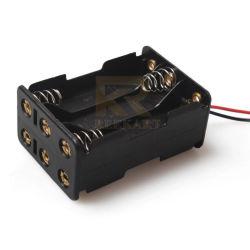 De plastic 9V Houder van de Batterij van AMERIKAANSE CLUB VAN AUTOMOBILISTEN zij aan zij 6 van de Cel met de Lood van de Draad