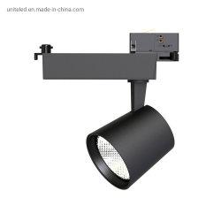Deckenbeleuchtung COB kommerzielle Einzelhandelsoberelemente Aluminium 220V CRI90 30W LED-Spurbeleuchtung