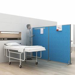 Perfil de aluminio plegable de móviles de pantalla de la sala de hospital para plegado