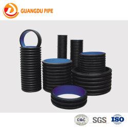 Пластиковый PE PVC HDPE гофрированную трубу с двойные стенки и одной стене