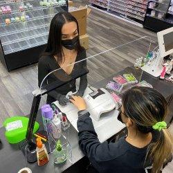 Niesen-Schutz-stehender Bildschirm, Niesen-Schutz-Glasbüro, Nagel-Salon