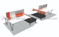Офисная мебель Металлическая рама Ламинат Рабочий стол Двусторонняя розетка 6 Рабочая станция для офиса человека, офисная рабочая станция, рабочая станция для школы