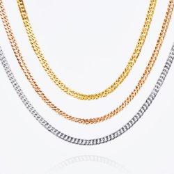 مجوهرات الموضة Buckle مصقولة سلسلة مزدوجة حافة سلسلة من الأكسسوارات الفولاذ المقاوم للصدأ للرجال والنساء