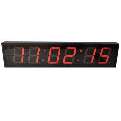 4 pulgadas digital LED de 6 dígitos del reloj de tiempo de la pared con la temperatura