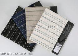 L21*L21 de toile de lin pur lin textile Multi Motif à rayures