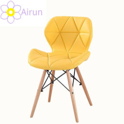 2020 El diseño moderno mobiliario de hogar baratos de cuero de PU Comedor sillas de madera de haya Silla de Comedor tejidos de colores de las piernas