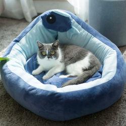 탈착식 독 Cat 침대 Cat 침낭소에는 겨울이 있습니다 따뜻한 고양이 집 작은 애완용 침대 강아지 Kennel Nest 쿠션 PET 제품