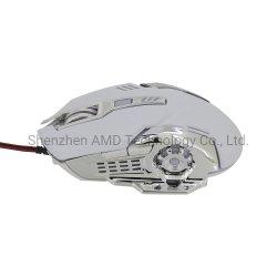 El botón 6 juegos de cable de 1,5 m de cable trenzado de mouse ratón de ordenador