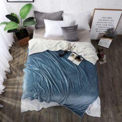 Logotipo personalizado portátil quente Moda Flanela Sherpa Velo de cama Manta de projeção