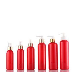 Plastic fles met cosmetische lotion van 250 ml (01B115)