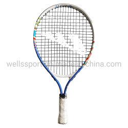 Diseño personalizado de aleación de aluminio raqueta de tenis para niños jugando 19pulg.