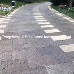 옥외 회색 현무암 지면 도와 화산 용암 돌 포장 기계