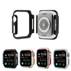 غطاء ساعة Smart Watch للكمبيوتر الشخصي من Hard Armor لسلسلة Apple Watch 4 5 غطاء واقي سلامة الزجاج iWatch مقاس 40 مم 44 مم إطار