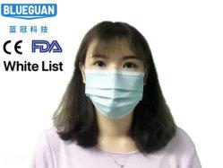 Segurança/protecção/Nonwoven 4camada de pó de carbono activado/Branco/Dental/SMS/Boca 3ply máscara descartável com elástico Ear-Loops/Tie-on