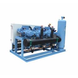 Chiller enfriados por aire calefacción y aire de refrigeración de agua Bomba de calor con compresores de desplazamiento del pistón Subcooled R410a unidades de refrigeración de almacenamiento en frío