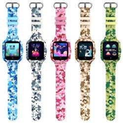 Kt22s GPS impermeables OEM personalizados de apoyo de la pantalla táctil de la tarjeta SIM del teléfono Android Ios Smartwatch Reloj inteligente de la Cámara de los niños