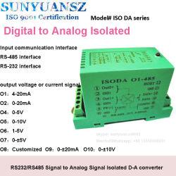 RS485 RS232 para señal analógica del protocolo de comunicación Modbus RTU convertidor de aislamiento de la recopilación de datos