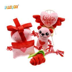 2021 эксклюзивная коллекция Святого Валентина розового цвета, мягкая Мягкая игрушка для собак для ПЭТ