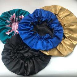 China Fabrikant Reversible Double Soft Silk Adjustable Sleeping Cap Kids Satijnbonnet