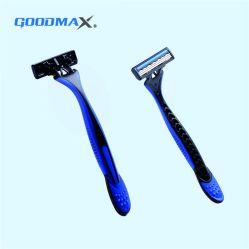 Supermercado 3 descartáveis de lâmina de barbear Manual da máquina de barbear
