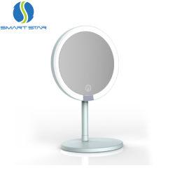 Lanterna LED recarregável Censor Inteligente Espelhos Compacto Personalizado espelho cosmético com Luzes do espelho de mesa
