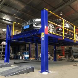 2M 4 m 6 m 10 m 高さ 20 m 4 柱油圧自動車 駐車場用のエレベーター駐車場駐車場システム設置 中 2 階とシャフト( In Mezzanine