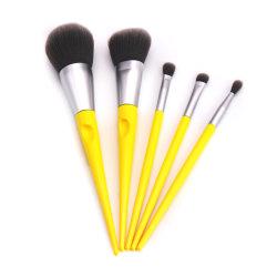 Packs de 5 Accssory Fashion cosmétiques Maquillage professionnel jaune jeu de balais