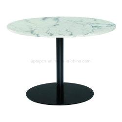 Nouveau style de haute qualité dalle de marbre Table ronde personnalisé pour un restaurant fast-food