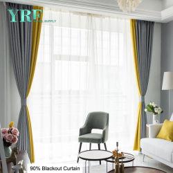 安い価格のホテルの病院のためのリネン停電の窓カーテンのWindowsの縛り